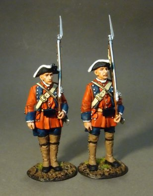 Two Line Infantry at Attention #2, 60th (Royal American), Regiment of Foot