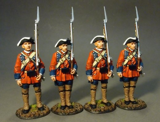 Four Line Infantry at Attention #2, 60th (Royal American), Regiment of Foot