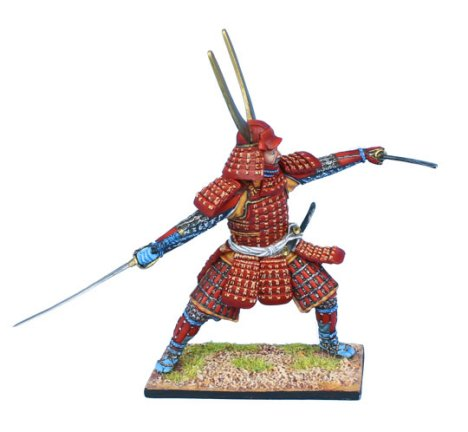 Samurai Warrior Fighting with Dual Katanas