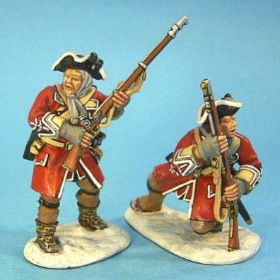 27th Regiment of Foot, British Line Infantry Advancing