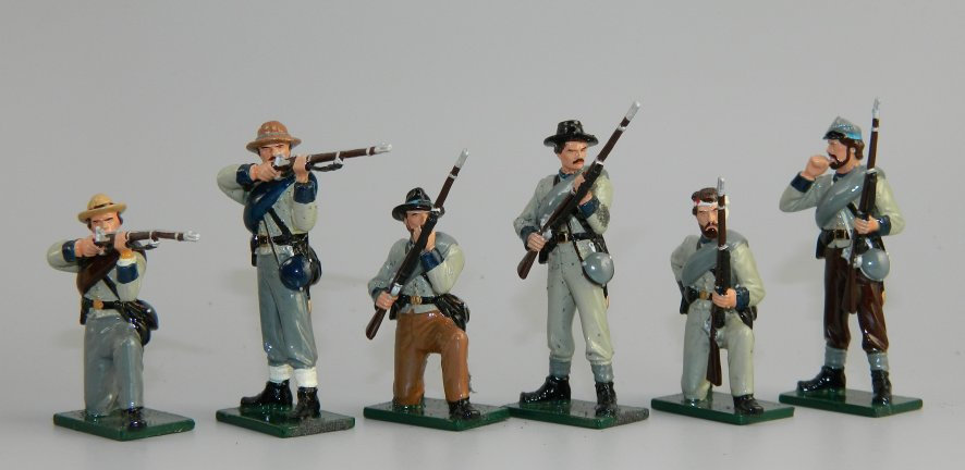 Army of Tennessee Confederate Infantry Firing