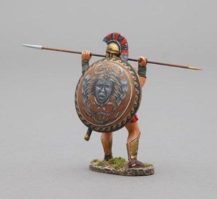 Spartan Warrior Thrusting Spear - Medusa Shield