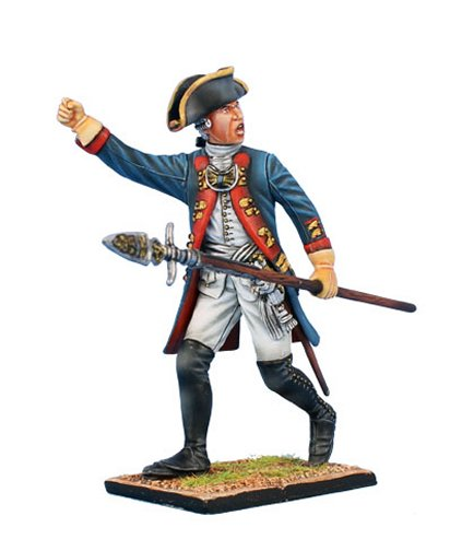 Prussian Grenadier Officer Advancing