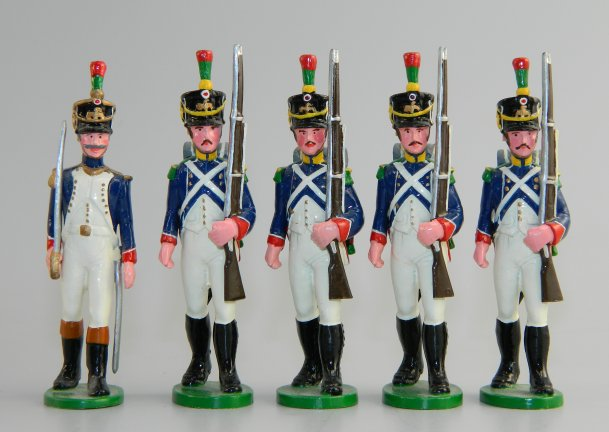 French Napoleonic Soldiers with Officer