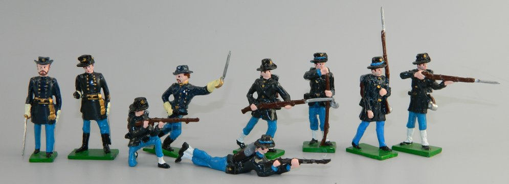 Nine American Civil War Union Infantry