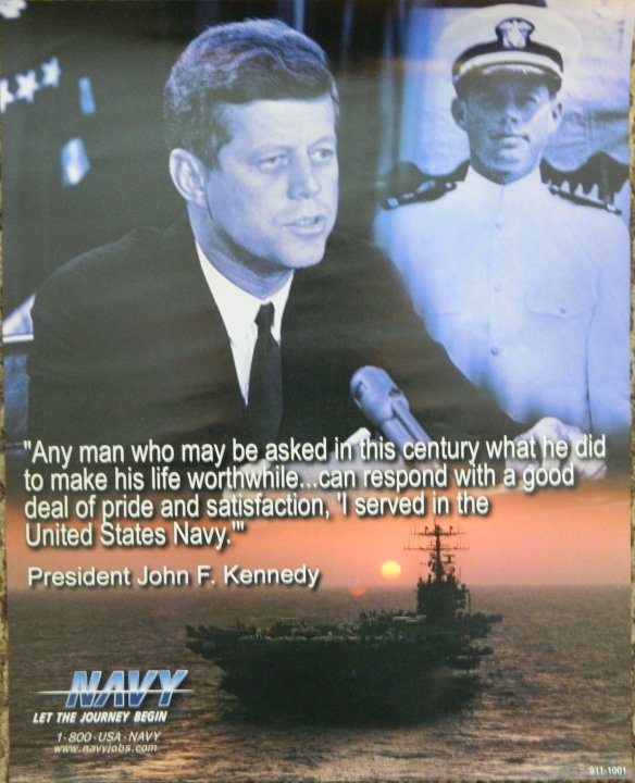 "JFK ""I Served in the United States Navy"""