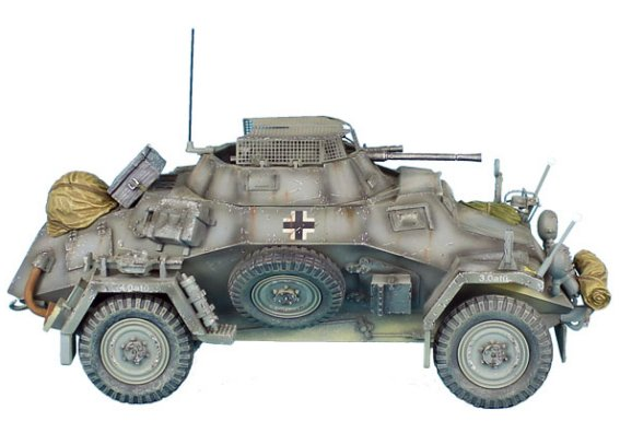 SdKfz 222 Light Armored Reconnaissance Vehicle - 16th Panzer Division
