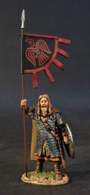 Viking with Raven Banner