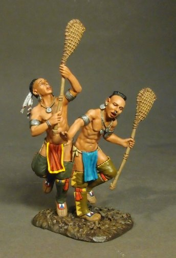 Lacrosse Players, Woodland Indians