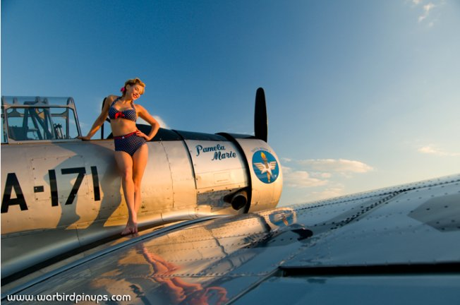 "T-6 Texan ""Pamela Marie"" with Gwen, 2011"