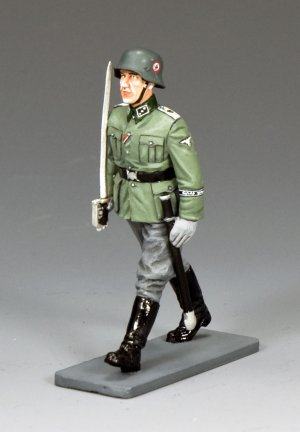 Marching Waffen SS Officer