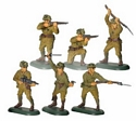 WWII Japanese Infantry (6 pc assortment)