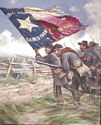 Color Bearer 1st Texas Regiment C.S.A., 1862 - Canvas Giclee