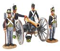 British Royal Artillery 9 Pound Gun and 4 Man Crew