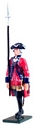 British 60th Regiment of Foot Officer Marching 1754-1763