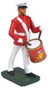 United States Marine Corps Side Drummer, Commandant's Own, Red Tunic