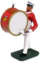 United States Marine Corps Bass Drummer, Commandant's Own, Red Tunic