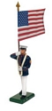 United States Marine Corps Standard Bearer, US Flag, Summer Dress