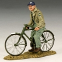 Ground Crewman on Bicycle