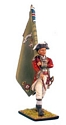 British 5th Foot Standard Bearer with Regimental Colors