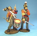 1st Regiment of Foot (Royal Scots), Wounded Drummer and Officer