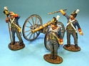 5th July 1814, British Foot Artillery, 3 Crew Firing