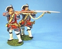 British 4th Regiment of Foot (Barrell's) Line Infantry Firing