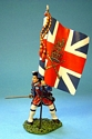 4th Regiment of Foot (Barrell's) British Officer with Kings' Colours