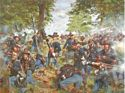 The Black Hats, 19th Indiana Regiment, Iron Brigade at Gettysburg, July 1, 1863 - Canvas Giclee