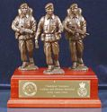 British Army Cadet Group Centerpiece on Mahogany Base
