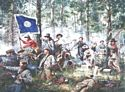 Cleburne at Chickamauga, 2nd Tennessee Regiment - Canvas Giclee