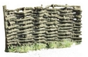 Woven Wicker Fence Section