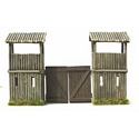 American Log Fort Gates with Watch Tower