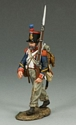 French Line Infantry Marching Rifleman with Beard