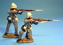 Royal Marine Light Infantry, 2 Figures Firing #1
