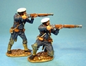 BRITISH NAVAL BRIGADE 2 Sailors Firing #1