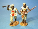 Mahdists - 2 Figures Charging