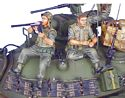 US 25th Infantry Tank Riders - Loading Catridges and Reading Magazine