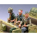 Three Seated Riflemen