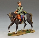 Mounted Cossack Holding Rifle, Looking Left