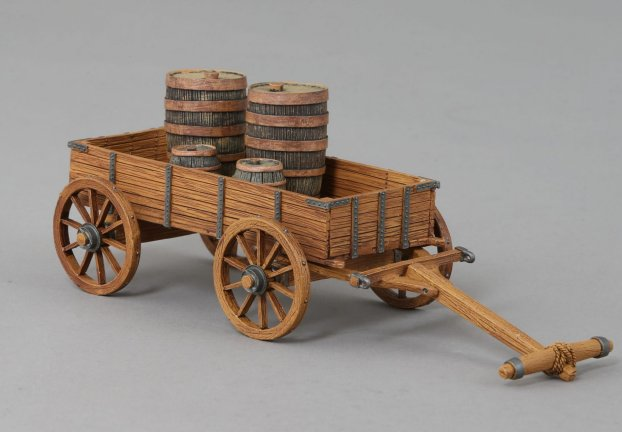 Large Cart with Barrels
