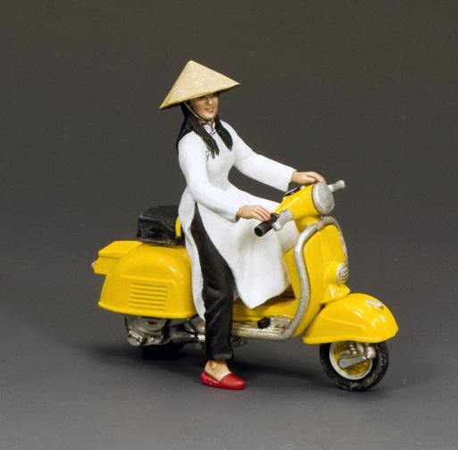 The Golden Yellow Vespa Girl