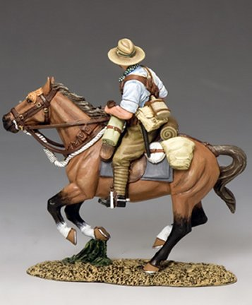 AL074 Mounted Kiwi Charging w//Rifle by King /& Country