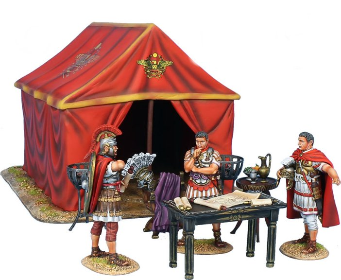 Imperial Roman Command Tent and 2 Braziers