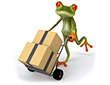 Frog delivering diorama supplies for free over $75